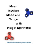 Fidget Spinner Math: Mean Median Mode and Range