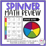 Spinner Math Review (4th Grade)