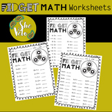Fidget Spinner Math Worksheets- Addition, Subtraction, Mul