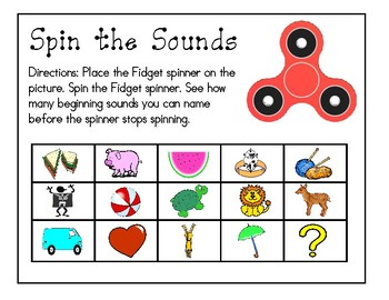 Fidget Spinner Math and Letter Activities