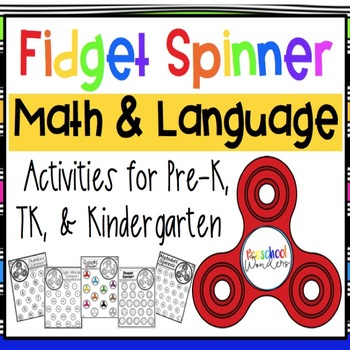 Fidget Spinner Math and Literacy Academic Activities