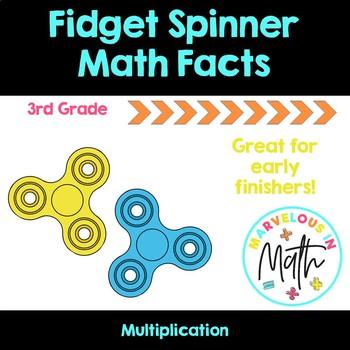 Fidget Spinner Multiplication Freebie
