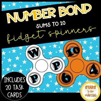 Fidget Spinner Number Bonds SCOOT (task cards - #s up to 10)