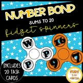 Fidget Spinner Number Bonds SCOOT (task cards - #s up to 20)