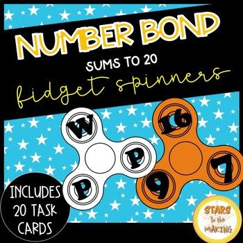 Fidget Spinner Number Bonds SCOOT (task cards - #s up to 20)