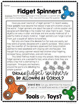 Fidget Spinner Opinion Writing