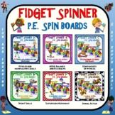 Fidget Spinner PE Spin Boards- 6 Set Super Bundle
