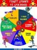Fidget Spinner PE Spin Boards- 6 Super Hero Movement Spin Boards