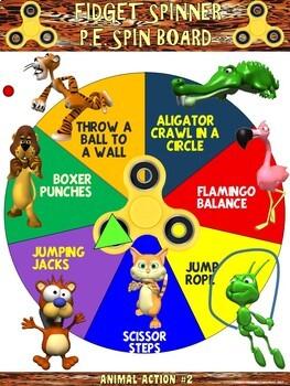 Fidget Spinner PE Spin Boards- 8 Animal Action Spin Boards