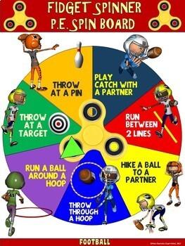 Fidget Spinner PE Spin Boards- 9 Sport-Specific Skill Spin Boards