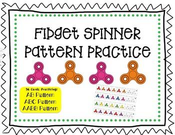Pattern Practice, Fidget Spinner Themed
