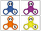 Fidget Spinner Place Value Write & Wipe Cards