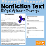 Fidget Spinner Reading Passage and Questions
