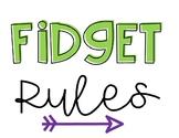Fidget Spinner Rules