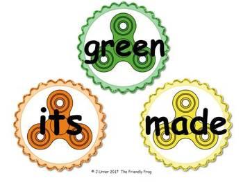Fidget Spinner Second Grade Word Wall