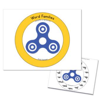 A Fidget Spinner Activity: Short Vowel Word Families