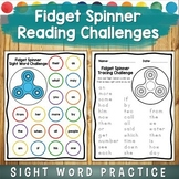 Fidget Spinner Sight Word Challenge Games