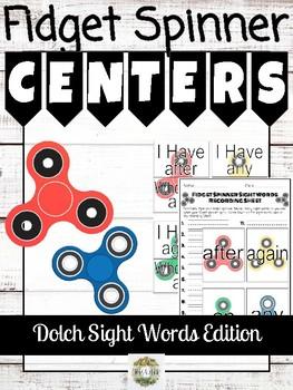 Fidget Spinner Sight Words Centers