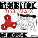 Fidget Spinner Sight Words Fry 1-100