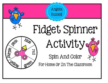 Fidget Spinner - Summer Activity For Home Spin And Color
