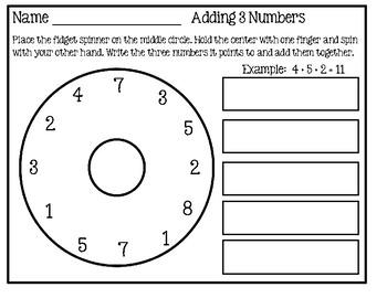 Fidget Spinner - Math Activity