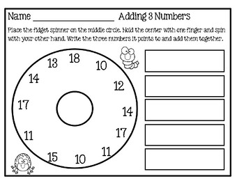Fidget Spinner - Math Activity  Set 2