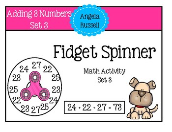 Fidget Spinner -  Math Activity Set 3
