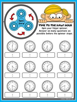 Fidget Spinner TIME Math Stations