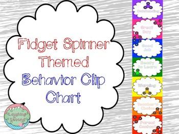 Fidget Spinner Themed Behavior Chart