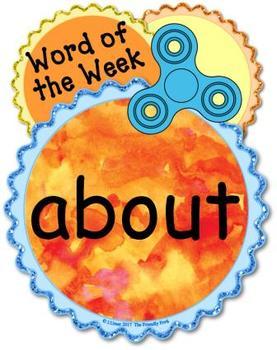 Fidget Spinner Third Grade Word Wall