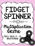 Fidget Spinner Timer Multiplication Fluency Game