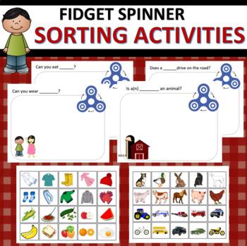 Fidget Spinner Sorting Activities
