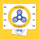 Fidget Spinner:  Vowel Blends:  Word Families