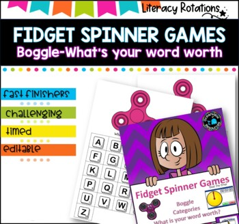 Fidget Spinner and Stopwatch Literacy Games