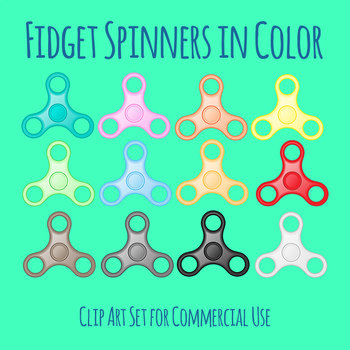 Fidget Spinner in Color Clip Art for Commercial Use