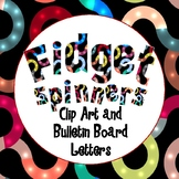 Fidget Spinner inspired clip art letters and bulletin board letters