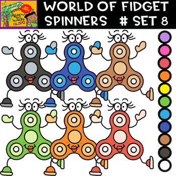 Fidget Spinners - 8 Cliparts Sets  - 88 Items #Bundle / Daily Deal