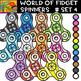 Fidget Spinners - 8 Cliparts Sets  - 88 Items #Bundle