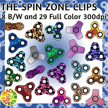 Fidget Spinners Clip Art Set Commercial and Personal Use