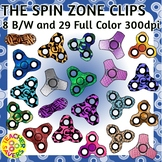 Spinners Clip Art Set Commercial and Personal Use