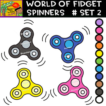 Fidget Spinners - Cliparts set - 11 Items #Set 2