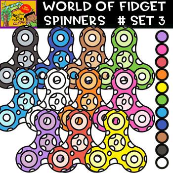 Fidget Spinners - Cliparts set - 11 Items #Set 3