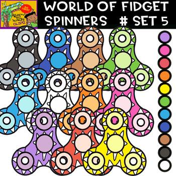 Fidget Spinners - Cliparts set - 11 Items #Set 5
