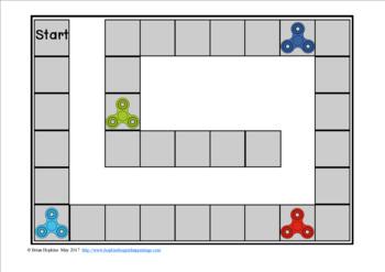 Fidget Spinners Fluency Phrases Race