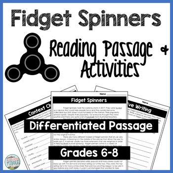 Fidget Spinners Middle School English Passage and Activities