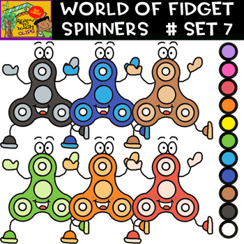 Fidget Spinners (Mr. Spinners)- Cliparts set - 11 Items #Set 7