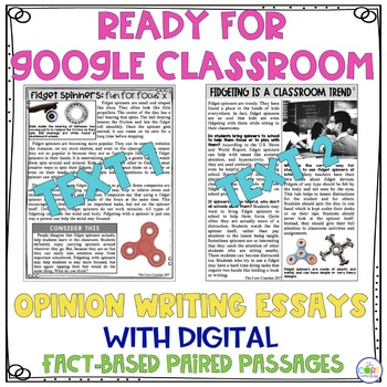 Fidget Spinners Paired Texts: Writing On-Demand Opinion Argumentative Essay