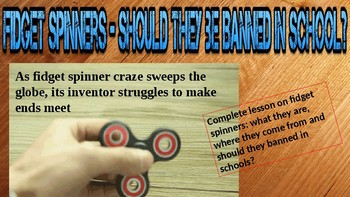 Fidget Spinners - Should they be Banned in Schools?