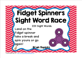 Fidget Spinners Sight Word Race