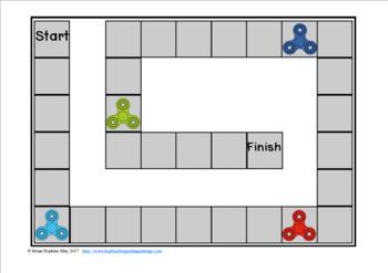 Fidget Spinners Sight Word Race